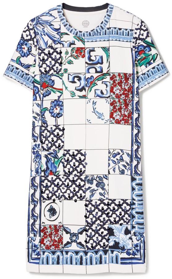 Tory Burch Sequin Embellished T-Shirt Dress