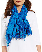 Eileen Fisher Striped Organic Cotton & Modal Wrap Scarf