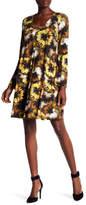 Karen Kane Midnight Floral Print Taylor Dress
