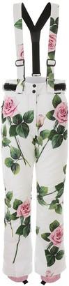 Dolce & Gabbana Rose Print Ski Jumpsuit