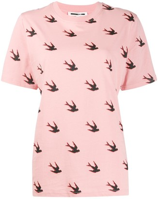 McQ swallow-print crew-neck T-shirt