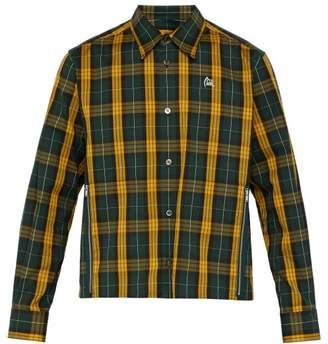 Undercover Bloody Geekers Checked Shirt - Mens - Green