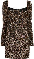 Amen leopard pattern cocktail dress