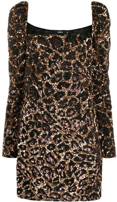 Amen Leopard Pattern Cocktail Dress