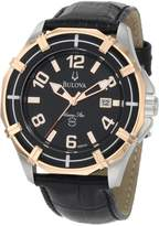 Bulova Men's Solano 98B154 Calf Skin Quartz Watch with Dial