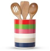 Kate Spade Utensil Crock with 3 Wooden Utensils