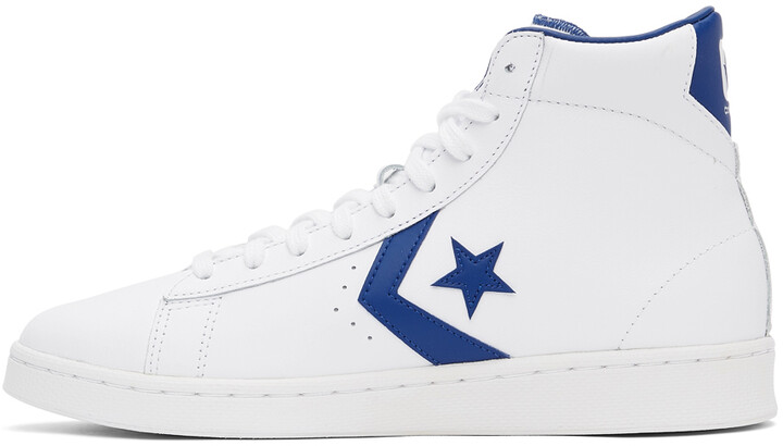 Thumbnail for your product : Converse White 'Converse Color' Pro Leather High Top Sneakers