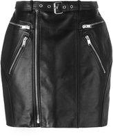 Saint Laurent zipped leather mini skirt