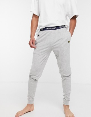 Lyle & Scott cuffed lounge pants in grey