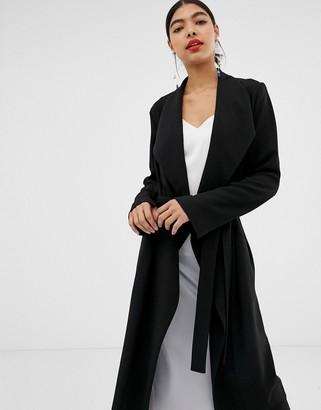 Asos Design DESIGN waterfall duster coat-Black