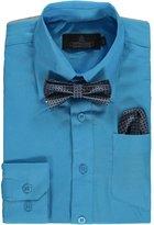 Vittorino Big Boys' Dress Shirt with Bowtie & Matching Pocket Square