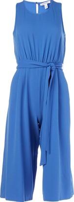 Nine West Women's Textured Crepe Belted Crop Jumpsuit