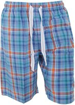 Cargo Bay Mens Woven Plaid Pattern Pyjama Shorts