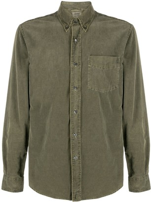 Aspesi Corduroy Long-Sleeved Cotton Shirt