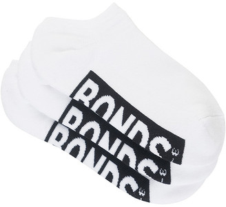 Bonds Womens Logo No Show Socks 3 Pack