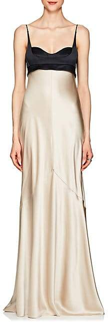 Narciso Rodriguez Women's Silk Charmeuse Bustier Gown - Pearl