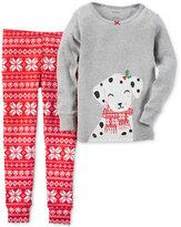 Carter's Girls' or Little Girls' 2-Pc. Fair Isle Dalmatian Pajama Set