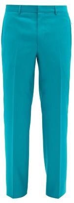 Givenchy Zip-pocket Wool Slim-leg Trousers - Green