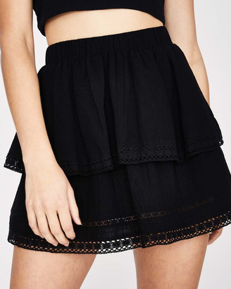Subtitled Self Stripe Laye Skirt