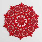 Cost Plus World Market Red Felt Snowflake Placemats, Set of 4