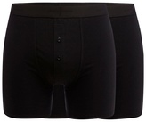 J By Jasper Conran Designer Pack Of Two Black Soft Stretch Boxers