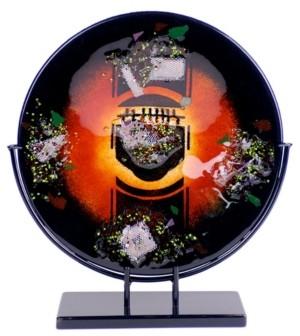 "Jasmine Art Glass 20"" Round Platter"