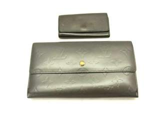 Louis Vuitton Grey Leather Wallets