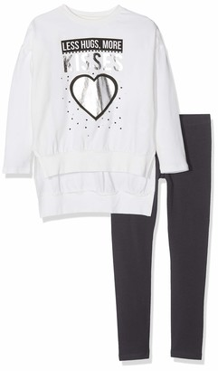 MEK Baby Girls COMPLETO 2 PEZZI: TOP E Leggings Jersey Stretch Clothing Set