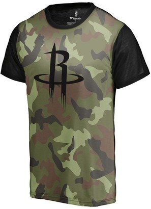 Men's Fanatics Branded Camo Houston Rockets Camo Collection Blast Sublimated T-Shirt