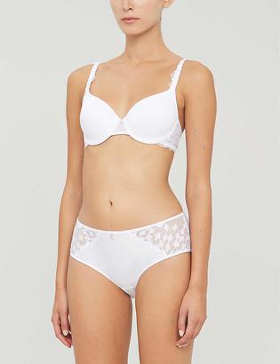 Chantelle Wagram lace and mesh T-shirt bra