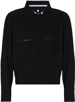 GR10K Bonded zip-up shirt jacket