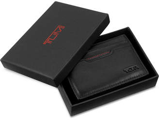 Tumi Men Leather Money Clip Card Case