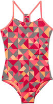 Nike Geometric One Piece Swimsuit Big Kid Girls