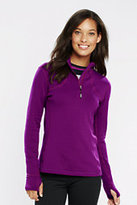 Classic Women's Petite Stretch Fleece Half Zip-Black