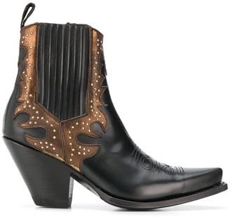 Paul Warmer x Sendra stud-embellished ankle boots
