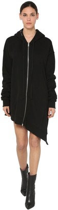 Unravel Asymmetric Cotton Jersey Dress