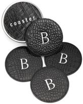 Graphic Image Personalized Croco Leather Coaster Set
