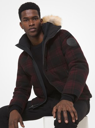 Michael Kors Buffalo Check Puffer Jacket