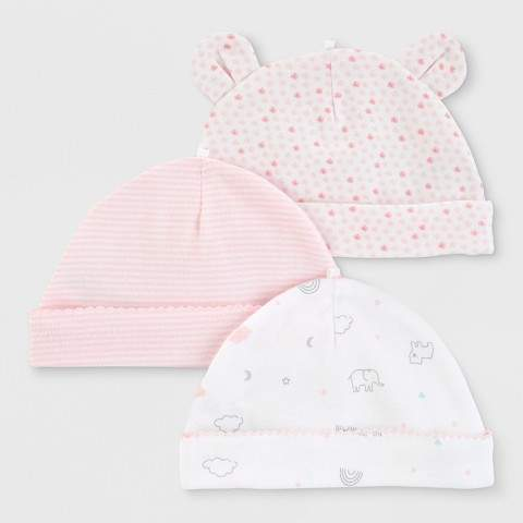 6cc506095 Just One You made by carter Baby Girls' 3pk Hats - Just One You® made by  0-3M