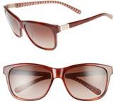 Tory Burch Women's 57Mm Gradient Sunglasses - Tortoise/ Orange Zig Zag