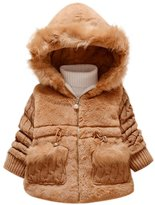 Leegor Baby Girls Kids Outwear Clothes Winter Jacket Coat Snowsuit Clothing (18M, )