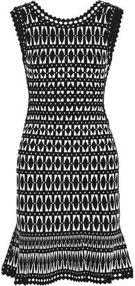 Herve Leger Fluted Jacquard-knit Dress