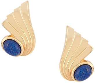 Christian Dior 1980s Pre-Owned Stone Clip-On Earrings
