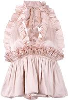 No.21 ruffle top - women - Silk/Polyester - 40
