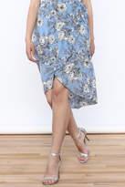 Solemio Floral Wrap Skirt