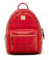 MCM Stark Mini Coated Canvas Backpack