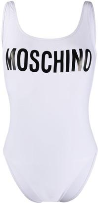 Moschino Logo Printed Swimsuit