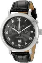 Akribos XXIV Men's AK591BK Swiss Chronograph Leather Strap Watch