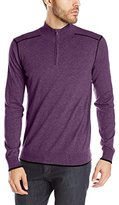 Agave Men's Laurence Contrast Stitch Half Zip Sweater