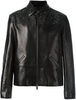 Valentino studded jacket - men - Cotton/Lamb Skin/Lyocell - 46